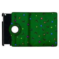 Green Abstract A Colorful Modern Illustration Apple Ipad 3/4 Flip 360 Case by Simbadda