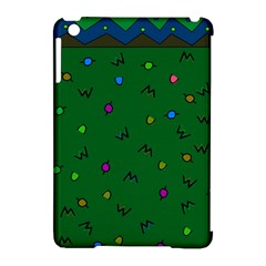 Green Abstract A Colorful Modern Illustration Apple Ipad Mini Hardshell Case (compatible With Smart Cover) by Simbadda