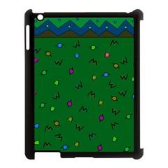 Green Abstract A Colorful Modern Illustration Apple Ipad 3/4 Case (black) by Simbadda