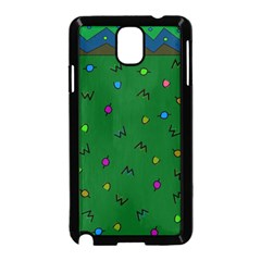 Green Abstract A Colorful Modern Illustration Samsung Galaxy Note 3 Neo Hardshell Case (black) by Simbadda