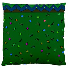 Green Abstract A Colorful Modern Illustration Large Flano Cushion Case (two Sides) by Simbadda