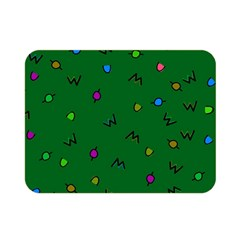 Green Abstract A Colorful Modern Illustration Double Sided Flano Blanket (mini)  by Simbadda