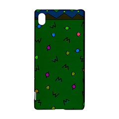 Green Abstract A Colorful Modern Illustration Sony Xperia Z3+ by Simbadda
