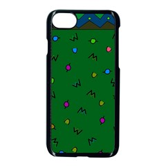 Green Abstract A Colorful Modern Illustration Apple Iphone 7 Seamless Case (black) by Simbadda