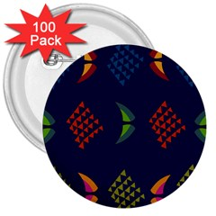 Abstract A Colorful Modern Illustration 3  Buttons (100 Pack)  by Simbadda