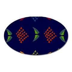 Abstract A Colorful Modern Illustration Oval Magnet by Simbadda