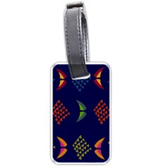 Abstract A Colorful Modern Illustration Luggage Tags (two Sides) by Simbadda