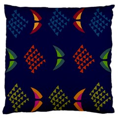 Abstract A Colorful Modern Illustration Large Flano Cushion Case (one Side) by Simbadda