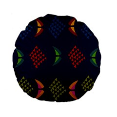 Abstract A Colorful Modern Illustration Standard 15  Premium Flano Round Cushions by Simbadda