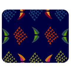 Abstract A Colorful Modern Illustration Double Sided Flano Blanket (medium)  by Simbadda