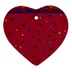 Red Abstract A Colorful Modern Illustration Ornament (heart) by Simbadda