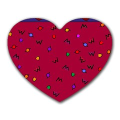 Red Abstract A Colorful Modern Illustration Heart Mousepads by Simbadda