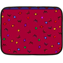 Red Abstract A Colorful Modern Illustration Fleece Blanket (mini) by Simbadda