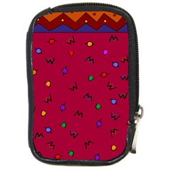 Red Abstract A Colorful Modern Illustration Compact Camera Cases by Simbadda