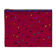 Red Abstract A Colorful Modern Illustration Cosmetic Bag (xl) by Simbadda