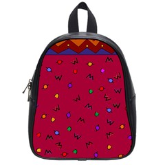 Red Abstract A Colorful Modern Illustration School Bags (small)  by Simbadda