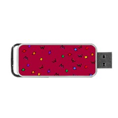 Red Abstract A Colorful Modern Illustration Portable Usb Flash (one Side) by Simbadda