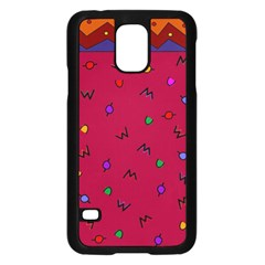Red Abstract A Colorful Modern Illustration Samsung Galaxy S5 Case (black) by Simbadda