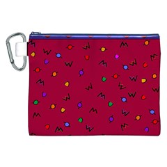 Red Abstract A Colorful Modern Illustration Canvas Cosmetic Bag (xxl) by Simbadda