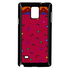 Red Abstract A Colorful Modern Illustration Samsung Galaxy Note 4 Case (black) by Simbadda