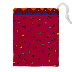 Red Abstract A Colorful Modern Illustration Drawstring Pouches (xxl) by Simbadda