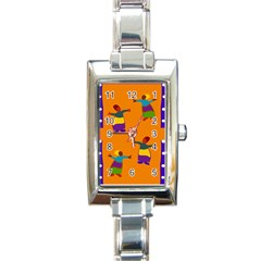 A Colorful Modern Illustration For Lovers Rectangle Italian Charm Watch by Simbadda