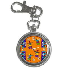A Colorful Modern Illustration For Lovers Key Chain Watches by Simbadda