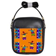 A Colorful Modern Illustration For Lovers Girls Sling Bags by Simbadda