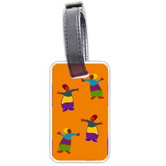 A Colorful Modern Illustration For Lovers Luggage Tags (two Sides) by Simbadda