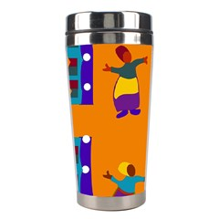 A Colorful Modern Illustration For Lovers Stainless Steel Travel Tumblers by Simbadda