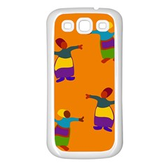 A Colorful Modern Illustration For Lovers Samsung Galaxy S3 Back Case (white) by Simbadda