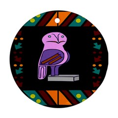 Owl A Colorful Modern Illustration For Lovers Ornament (round) by Simbadda