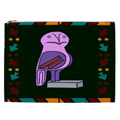 Owl A Colorful Modern Illustration For Lovers Cosmetic Bag (xxl)  by Simbadda