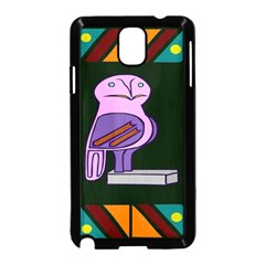 Owl A Colorful Modern Illustration For Lovers Samsung Galaxy Note 3 Neo Hardshell Case (Black)
