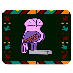 Owl A Colorful Modern Illustration For Lovers Double Sided Flano Blanket (medium)  by Simbadda