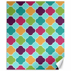 Colorful Quatrefoil Pattern Wallpaper Background Design Canvas 8  X 10  by Simbadda