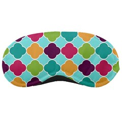 Colorful Quatrefoil Pattern Wallpaper Background Design Sleeping Masks by Simbadda