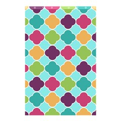 Colorful Quatrefoil Pattern Wallpaper Background Design Shower Curtain 48  X 72  (small)  by Simbadda