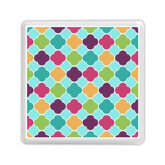 Colorful Quatrefoil Pattern Wallpaper Background Design Memory Card Reader (square)  by Simbadda