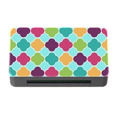 Colorful Quatrefoil Pattern Wallpaper Background Design Memory Card Reader With Cf by Simbadda