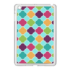 Colorful Quatrefoil Pattern Wallpaper Background Design Apple Ipad Mini Case (white) by Simbadda