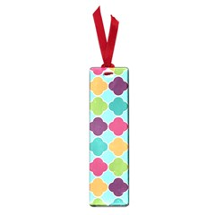 Colorful Quatrefoil Pattern Wallpaper Background Design Small Book Marks by Simbadda