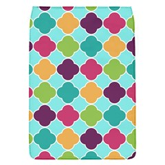 Colorful Quatrefoil Pattern Wallpaper Background Design Flap Covers (s)  by Simbadda
