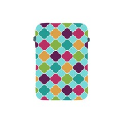 Colorful Quatrefoil Pattern Wallpaper Background Design Apple Ipad Mini Protective Soft Cases by Simbadda