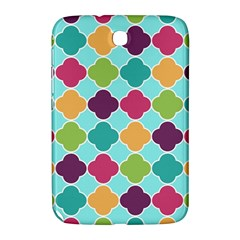 Colorful Quatrefoil Pattern Wallpaper Background Design Samsung Galaxy Note 8 0 N5100 Hardshell Case  by Simbadda