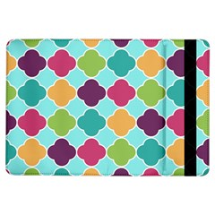 Colorful Quatrefoil Pattern Wallpaper Background Design Ipad Air Flip by Simbadda