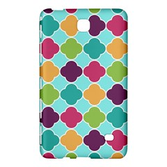Colorful Quatrefoil Pattern Wallpaper Background Design Samsung Galaxy Tab 4 (7 ) Hardshell Case