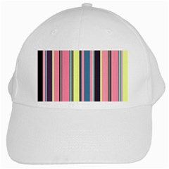Seamless Colorful Stripes Pattern Background Wallpaper White Cap by Simbadda