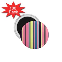 Seamless Colorful Stripes Pattern Background Wallpaper 1 75  Magnets (100 Pack)  by Simbadda