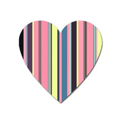 Seamless Colorful Stripes Pattern Background Wallpaper Heart Magnet by Simbadda